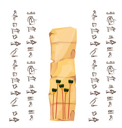 ancient egypt papyrus or stone vector image