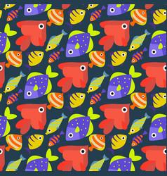 aquarium ocean fish underwater bowl tropical vector image