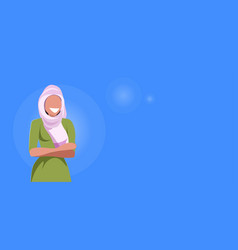 arab woman happy arabic girl wearing hijab fashion vector image