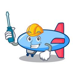 Automotive zeppelin mascot cartoon style vector