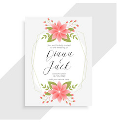 Awesome vintage flower and floral wedding card vector