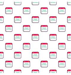 Birthday calendar pattern vector