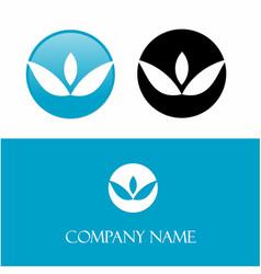 Blue logo leaf vector