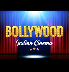 bollywood indian cinema film banner vector image