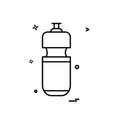 bottle water icon design vector image