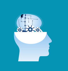 Brain aspirations adult care concept vector