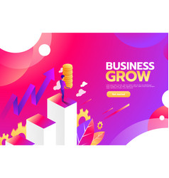 businessman looking for investment opportunity vector image