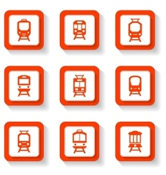 button trains set vector image