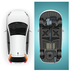 car template bottom and top vector image