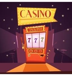 Casino Retro Cartoon vector image