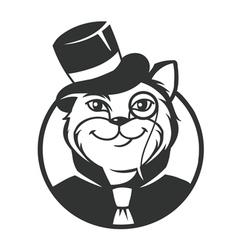 Cat gentleman vector