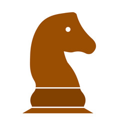 chess game horse - chess game vector image