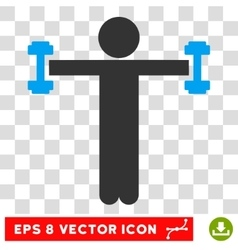 Child Fitness Eps Icon vector