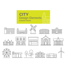 city design elements vector image