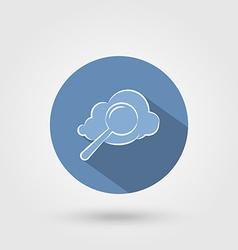 Cloud search icon vector image