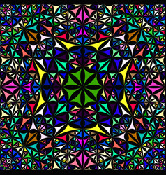 Colorful repeating kaleidoscope pattern vector