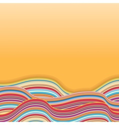 Colorful Stripe Waves Retro Background vector image