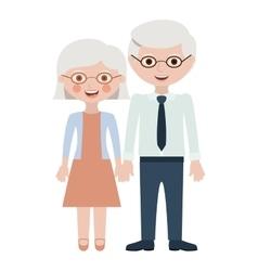 Couple of grandparents cartoon design vector image