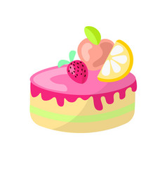 Cute cartoon sweet cake vector