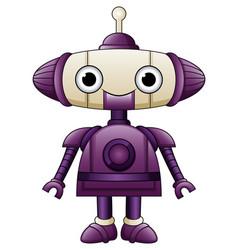 Cute robot purple cartoon with antennas vector