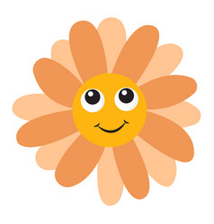 Flower with eyes on white background vector