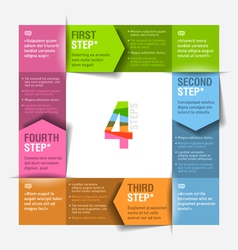 Four consecutive steps cycle vector image vector image