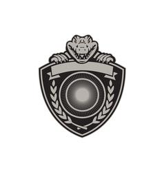 gator head coat arms retro vector image