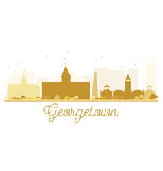 Georgetown city skyline golden silhouette vector