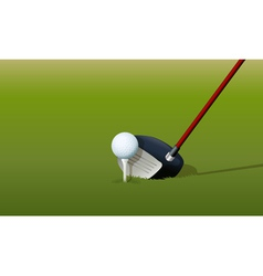 Golf Driver Club vector