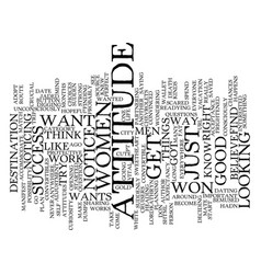 Got attitude text background word cloud concept vector