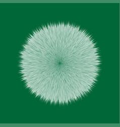 green fluffy hair ball vector image