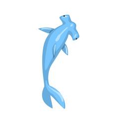 hammerhead shark marine life element sea or vector image