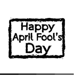 happy april fool day design vector image