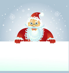 happy santa with christmas banner on the roof vector image