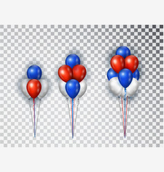 helium balloons composicion in national colors of vector image