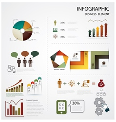 Infographics business vector