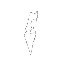 Israel map silhouette vector