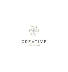 Leaf circle ecology creative business logo design vector