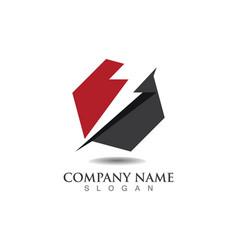 - lightning icon logo and symbols vector image