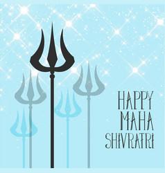 Lord shiva trishul background for maha shivratri vector