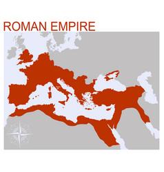 Map roman empire vector