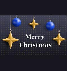 merry christmas holiday concept banner realistic vector image