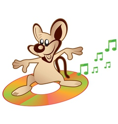 mouse music vector image