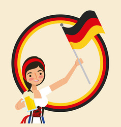 oktoberfest german celebration vector image