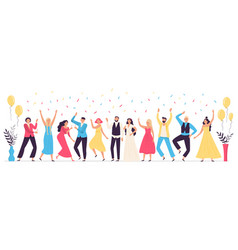 people dancing at wedding romance newlywed dance vector image