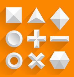 polygonal shapes white vector image