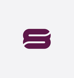 purple s letter or number eight icon logo vector image