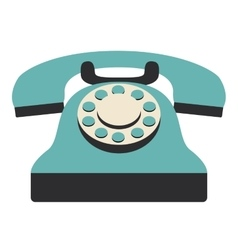Retro phone technology design vector image