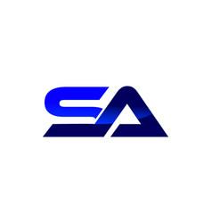 sa letter logo vector image