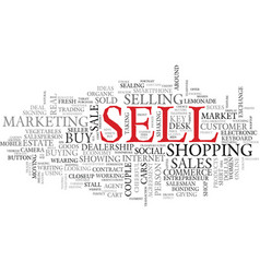 Sell word cloud concept vector